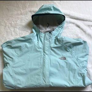 North Face Venture Tiffany Blue Rain Jacket